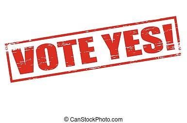 投票, はい