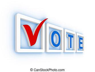 投票, チェックマーク