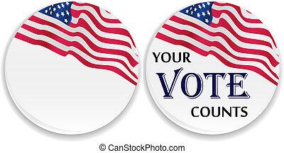 投票, ピン, ∥で∥, 合衆国旗