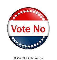 投票, ボタン, いいえ