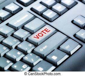 投票, ボタン, キーボード