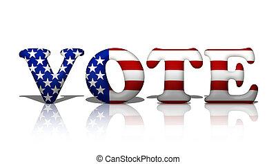 投票, 中に, アメリカ人