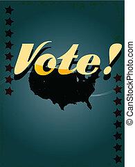 投票, 型, スタイル, アメリカ, 背景