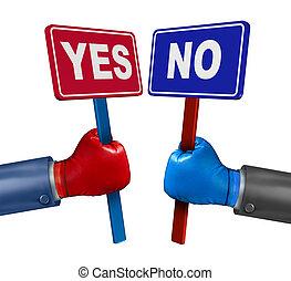 投票, 対立