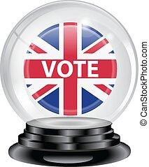 投票, 水晶球, イギリス