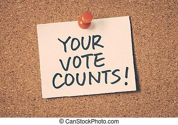 投票, 計算, あなたの