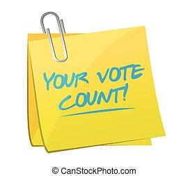 投票, 計算, メモ, イラスト, あなたの