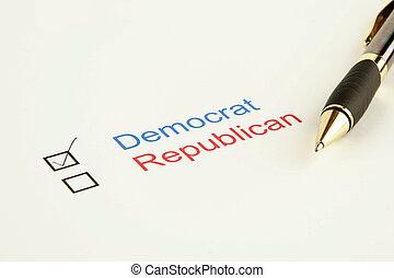 投票, 選挙