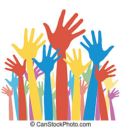 投票, 選挙, hands., 将官