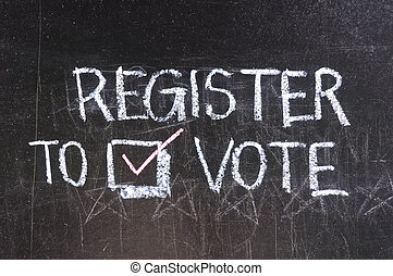 投票, 黒板, 書かれた