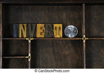 投資しなさい, タイプ, 凸版印刷, 単語