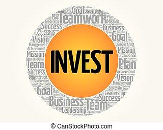 投資しなさい, 円, 単語, 雲