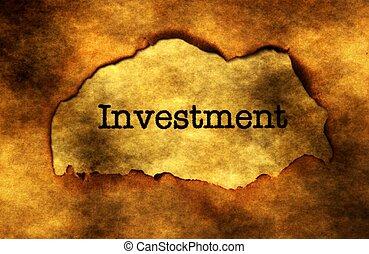 投資, グランジ, 概念