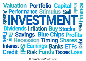 投資, 単語, 雲