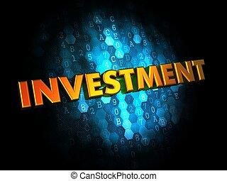 投資, 概念, 上, 數字, 背景。
