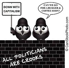 抗議, 反, 資本主義