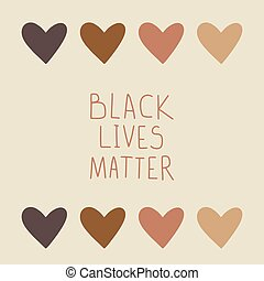 抗議, 旗, 黒, 生命, matter.