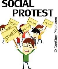 抗議, 社會