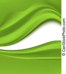折りたたみ, 抽象的, イラスト, バックグラウンド。, ベクトル, 緑