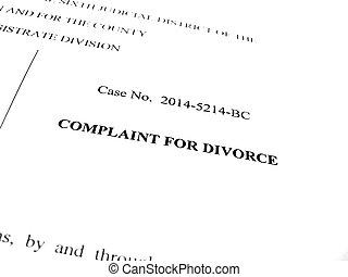 抱怨, 為, 离婚