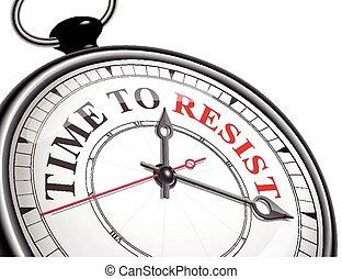 抵抗, 概念, 時間鐘