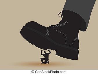 押しつぶすこと, ブーツ