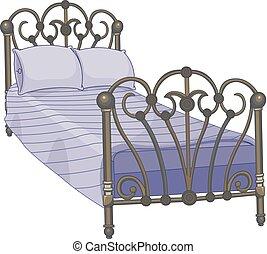 押し込まれた, ベッド