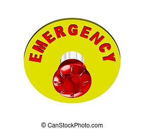 押し, ボタン, 緊急事態