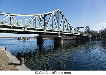 押し, 橋, glienicker, ボート