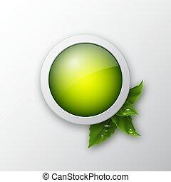押し, 網, ボタン, エコロジー, アイコン