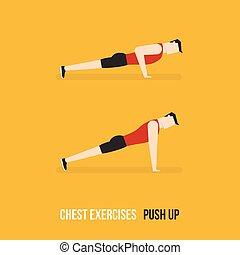 押し, 。, 胸, exercises.