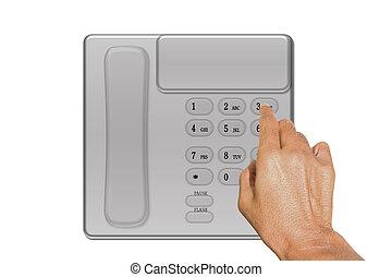 押し, 電話, ボタン
