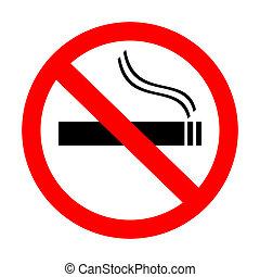 抽烟, 不, 签署