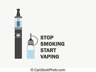 抽煙, 停止, 開始, vaping