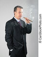 抽煙, 商人
