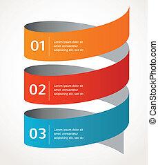 抽象的なデザイン, そして, infographics, 背景, ベクトル, アイコン