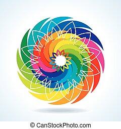 抽象的なデザイン, カラフルである