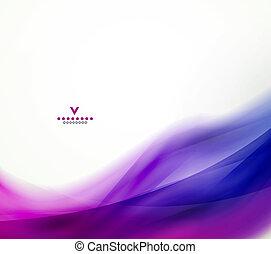 抽象的なデザイン, カラフルである, テンプレート, 波