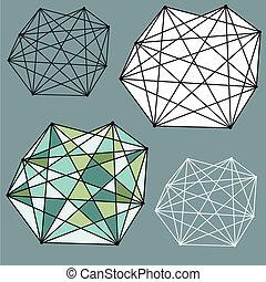 抽象的なデザイン, 幾何学的