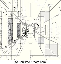 抽象的なデザイン, 建築