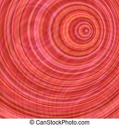 抽象的なデザイン, 背景, 円, 同心である, 赤
