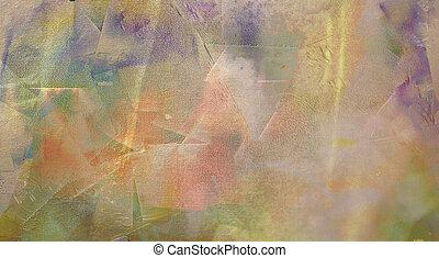 抽象的な絵