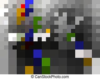抽象的な 芸術, ピクセル, 背景