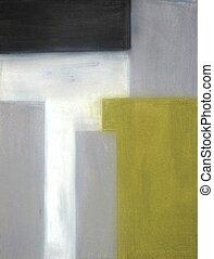 抽象的艺术, 灰色, 黄色