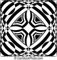 抽象的, のように, tridimensional, 天井, アラベスク, 印象