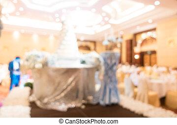 抽象的, ぼやけ, ホール, 結婚式
