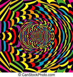 抽象的, らせん状に動きなさい, カラフルである