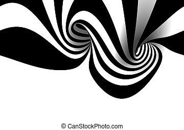 抽象的, らせん状に動きなさい
