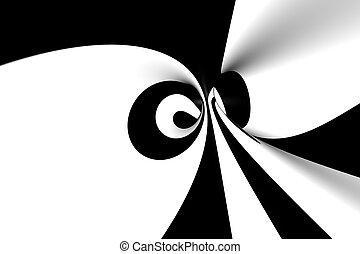 抽象的, らせん状に動きなさい, 3d