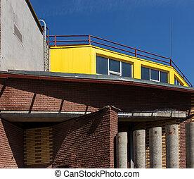 抽象的, れんが造りの建物, 背景